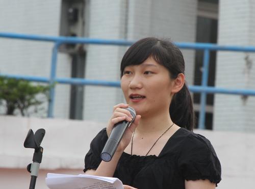 初三初中邀请优秀毕业生刘曼年级做同学下的讲话国旗体育教学资源图片