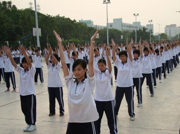 美丽的风景——高一广播操比赛-中山市华侨中学