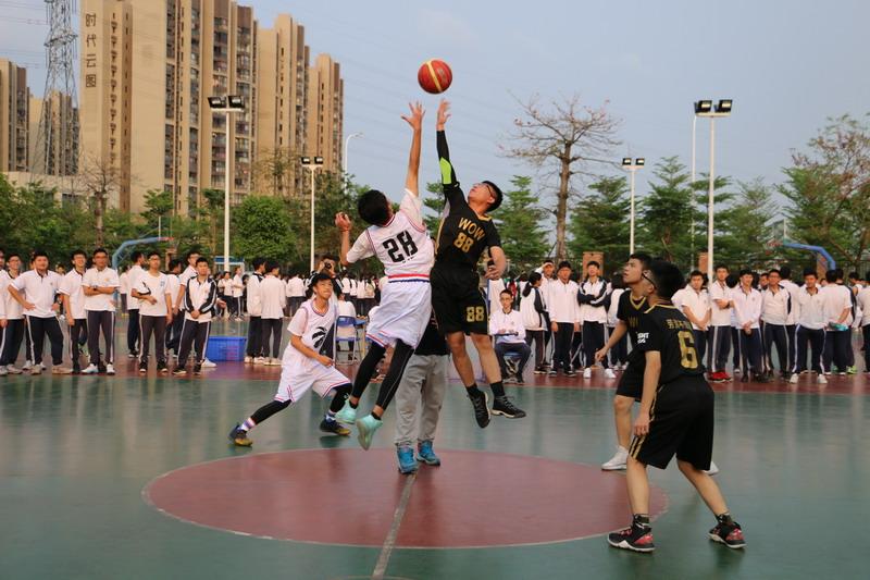 我校举办2018-2019学年高二年级篮球赛